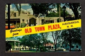 NM Greetings Old Town Plaza ALBUQUERQUE NEW MEXICO PC