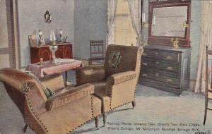Retiring Room Showing Gen Grants Two Easy Chairs Grants Cottage Mount Mcgrego...