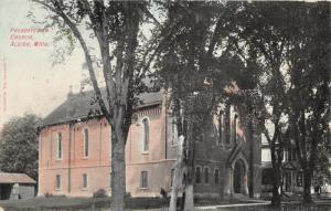 Albion Michigan~Presbyterian Church~Entrance Shaded by Trees~c1910 Pc