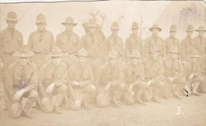 Military Soldiers Posing In Uniform Real Photo