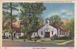 Arkansas Hot Springs First Lutheran Church Curteich