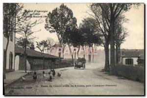 Postcard Old Cars Tour d & # 39Auvergne Gordon Bennett Cup 1905 circuit route...