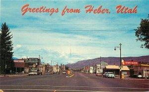 Automobiles Dairy Queen Heber Utah McCo Colorpicture Postcard 20-9985