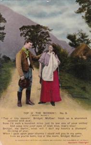Bamforth Romantic Couple Top O' The Mornin' No 2 1912