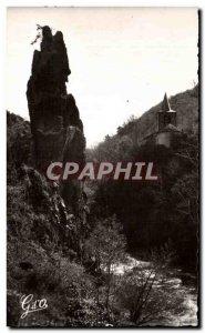Old Postcard L & # 39Auvergne Road Thermal Dick De Verrieres Pres Saint Necta...