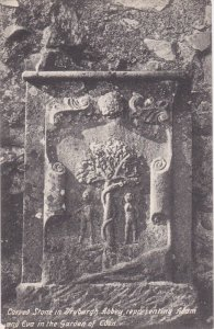 SCOTLAND, 1900-1910's; Carved Stone In Dryburgh Abbey