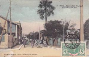Senegal Dakar Une Rue Street Scene 1912