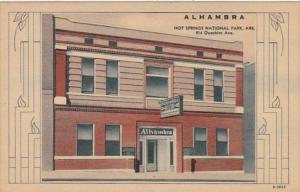 Arkansas Hot Springs Alhambra Bath House Curteich