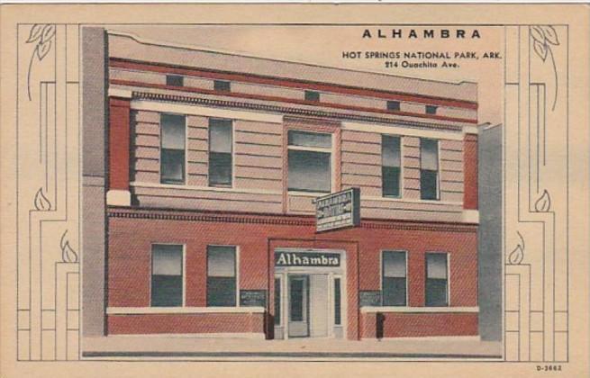 Arkansas Hot Springs Alhambra Bath House Curteich