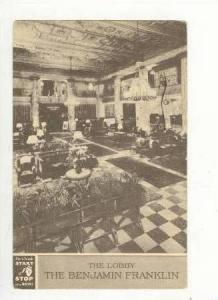 The Lobby, The Benjamin Franklin, Philadelphia, Pennsylvania, PU-1947