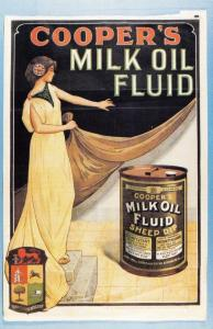 Nostalgia Postcard c1900s Cooper's Milk Oil Fluid Advertisement Repro Card NS13