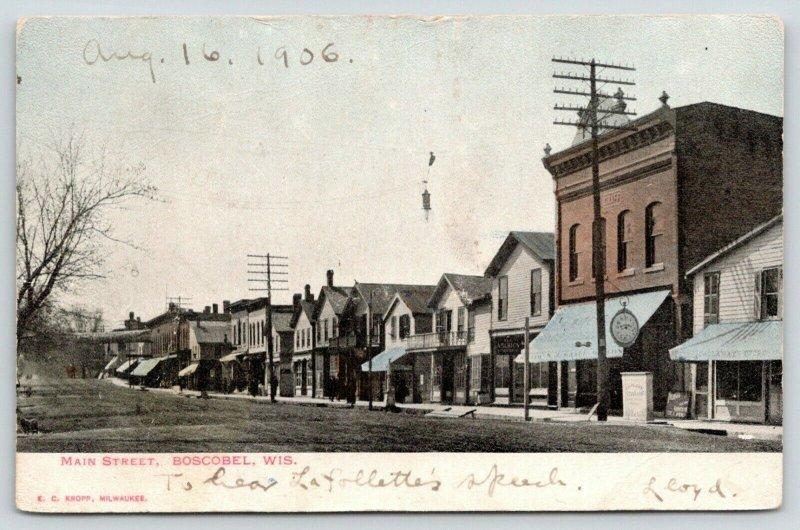 Boscobel Wisconsin~Main Street~Callaway's Grocery Store~Sidewalk Clock~1906