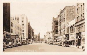 Old Cars Street Scene Spokane Washington 1946 sk42