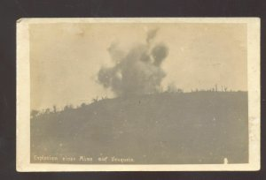 RPPC WORLD WAR 1 WWI BATTLE ACTION VAQUOIS FRANCE BOMB REAL PHOTO POSTCARD