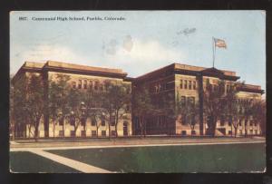 PUEBLO COLORADO CENTENNIAL HIGH SCHOOL VINTAGE POSTCARD STOVER MISSOURI