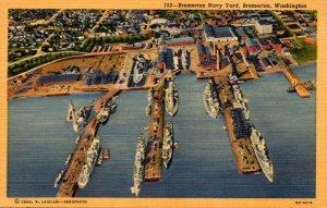 Washington Bremerton Aerial View Of Bremerton Navy Yard Curteich