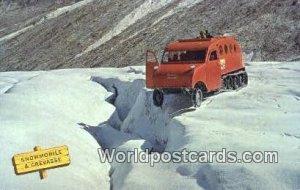 Snowmobile & Crevasse Canadian Rockies Canada Unused