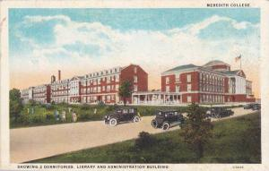 Classic Cars, Dormitories, Library, Administration Building, Meredith College...