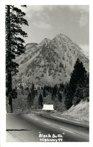 USA Black Butte Highway 99 RPPC 04.93