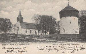 Lerbo Kyrka Sweden Old Postcard