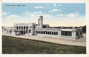 Union Railroad Depot, Joplin, Missouri, Early Postcard, Used in 1917