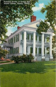 Quincy Illinois~Historical Society~Adams County~1950-60s Postcard