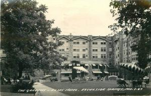 1950 Excelsior Springs Missouri Gardens Elms Hotel Cook RPPC real photo 11907