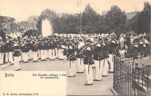 Berlin Germany~Brass Band at Chapel Garden~1 O'Clock~1905 B&W Postcard