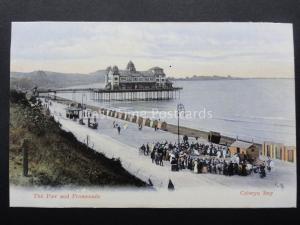 Conwy COLWYN BAY Pier & Promenade Performers c1908 Postcard Woolstone Bros 135