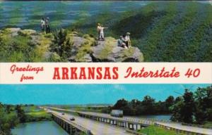 Greetings From Arkansas Showing Interstate 40 Bridge