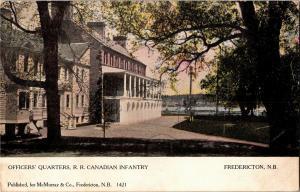 Officers Quarters Military Compound Fredericton NB c1907 Vintage Postcard Q31