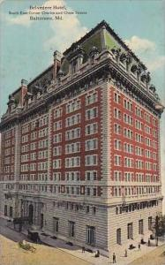 Maryland Baltimore Belvedere Hotel South East Corner Charles And Chase Street...