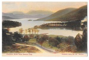 UK Cumbria Coniston Water from Beacon Crag Vintage Postcard