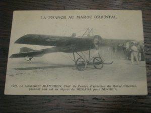 Aviation Postcard French France Algeria Lt. Jeamerod Nekhila Tunisia Merada