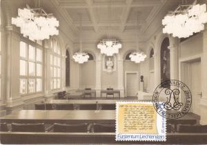 Liechtenstein , FDC postcard , 1987