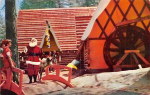 Santa Claus Christmas Old Vintage Antique Postcard Santas Village, Sky ...