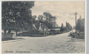 Kent; Cobham, Station Bridge PPC 1908 PMK To Miss Mason, Wimbledon