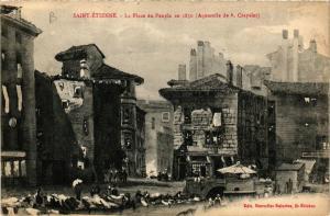 CPA St-ÉTIENNE La Place du Peuple en 1850 (401833)