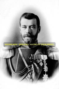 mm506 - Russia - Czar Nicholas II Romanov in uniform 1898 - photograph 6x4