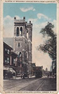 Glimpse Of Broadway Looking North From Clinton St., Showing Methodist Episcop...