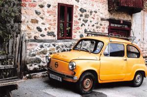 Postcard Classic Car, Zastava Yugo 750 O2