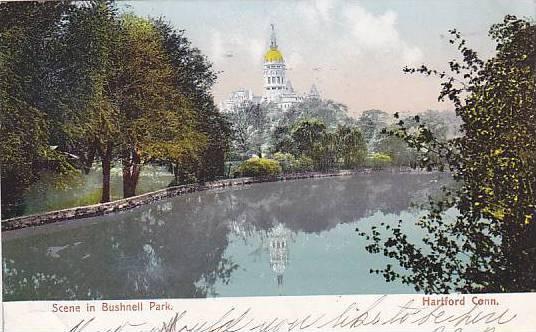 Scene in Bushnell Park, Hartford, Connecticut, PU-1906