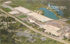 Ada Michigan~Amway World Headquarters~Aerial View~Lakes~1979 Postcard