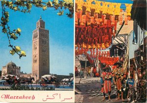 Morocco Postcard Marrakech different aspects