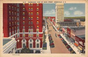 South Carolina Greenville ,Aerial View of Main Street