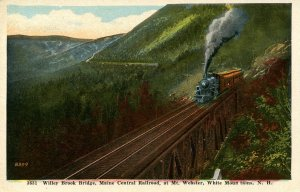 NH - Crawford Notch. Willey Brook Bridge (Maine Central Railroad)