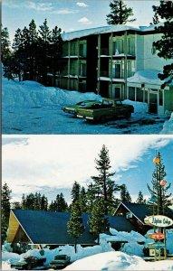 Alpine Lodge Mammoth Lakes CA California Multiview Unused Vintage Postcard F65