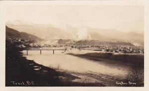 RP, Bridge, Partial View, Trail, British Columbia, Canada, 1920-1940s