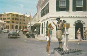 Bermuda Traffic Policeman at Wine Merchants Front Street Hamilton Postcard