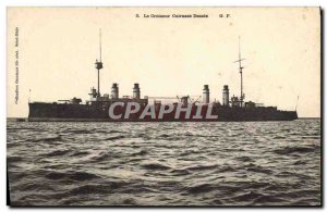 Old Postcard The cruiser warship Desaix Breastplate